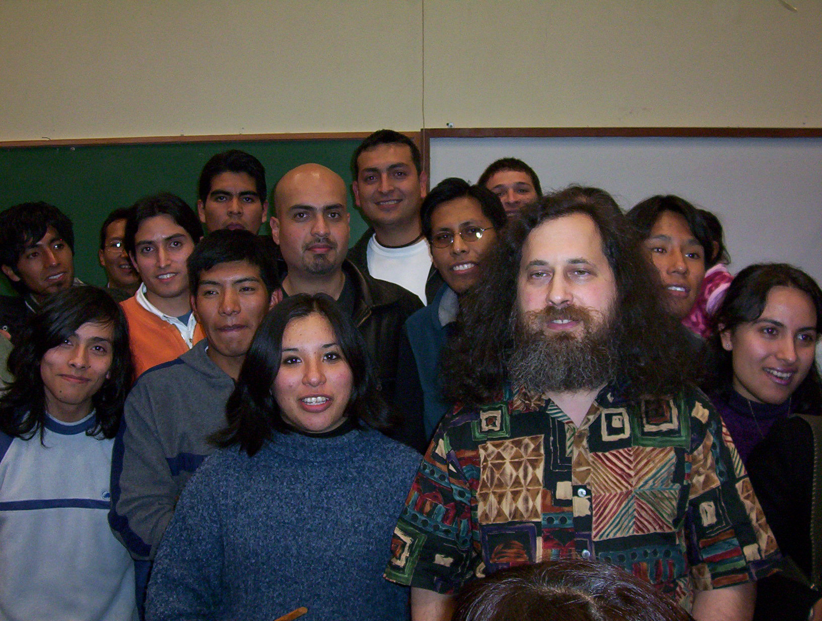Richard Stallman y universitarios